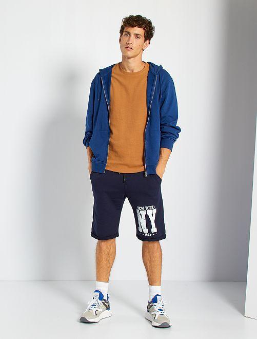 Shorts lunghi stampati                                                                 blu marine