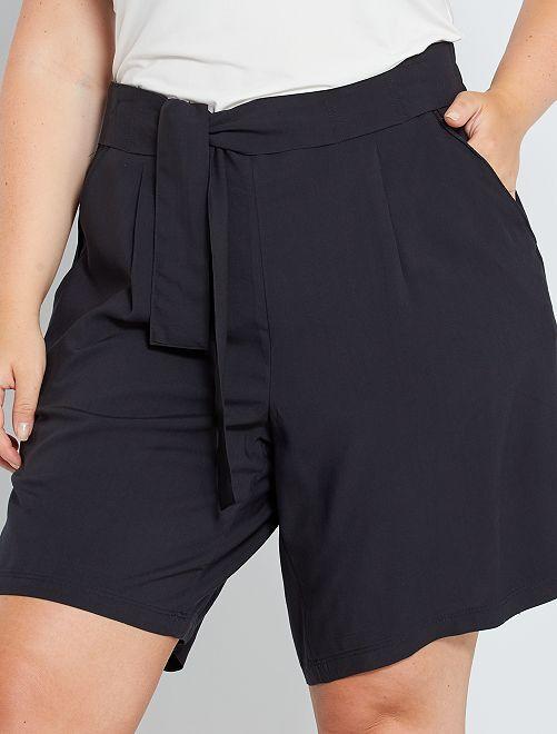 Shorts morbidi stampati                                                                             nero
