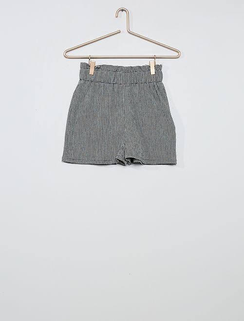 Shorts morbidi vichy                             NERO