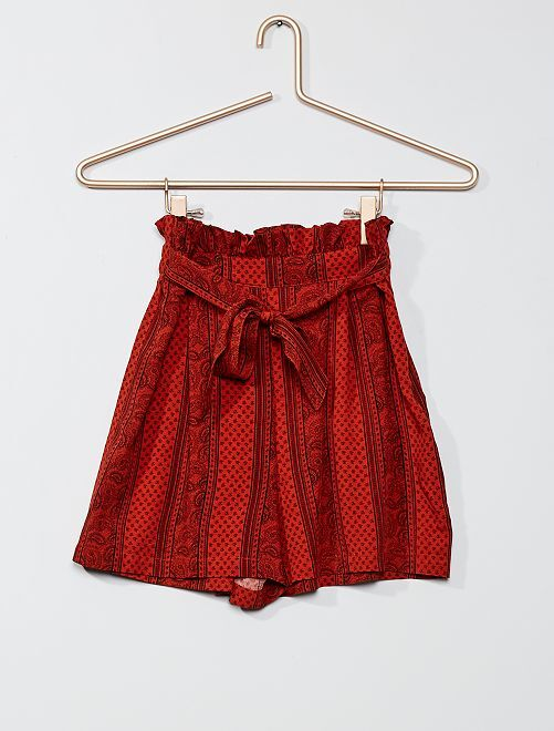 Shorts paper bag                                                     ROSSO
