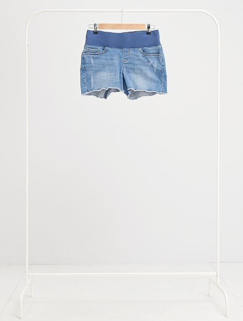 Shorts premaman in jeans                             BLU
