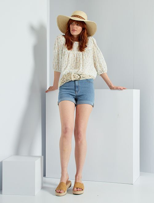 Shorts slim in jeans                                                     BLU