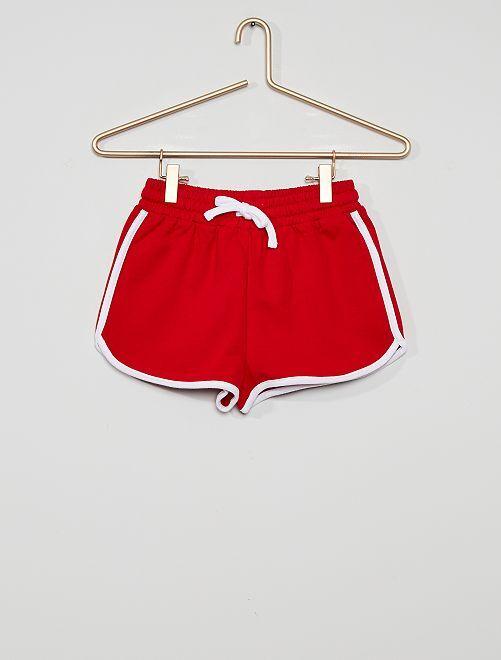 Shorts sportivi eco-sostenibili                                                                                                                 rosso