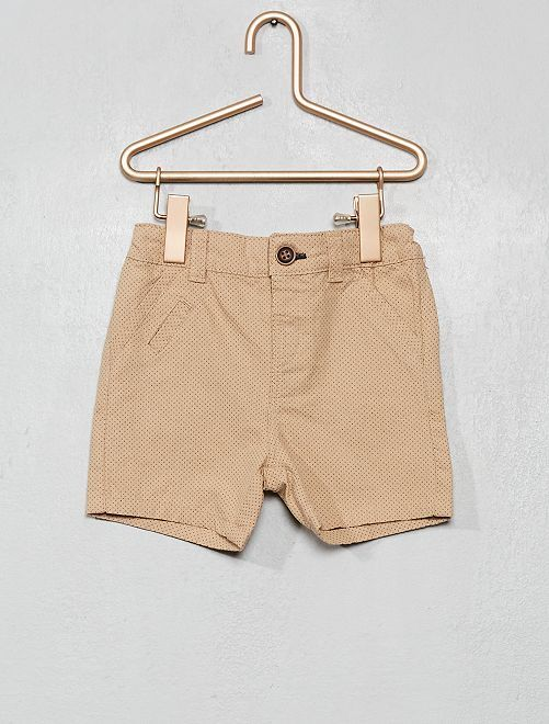 Shorts stampati a pois                                                     BEIGE