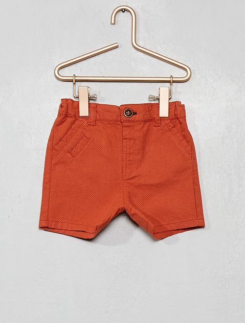 Shorts stampati a pois                                                     ROSSO