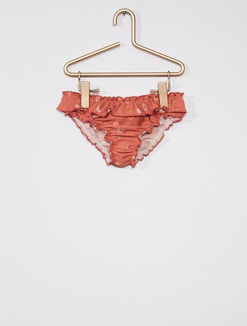 Slip bikini con motivi                             ROSA