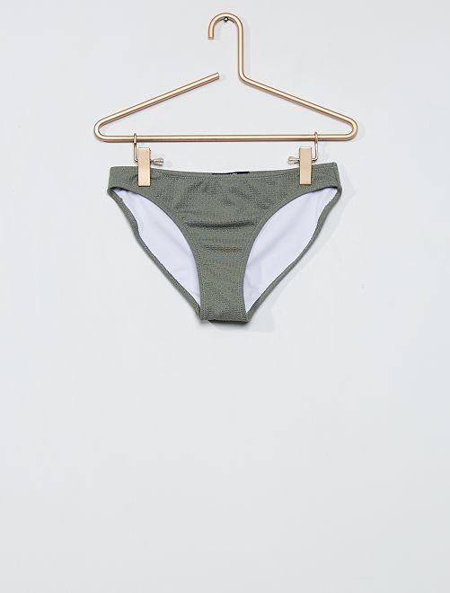 Slip bikini maglia fantasia                                         kaki