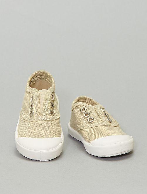 Sneaker effetto slavato                                         GIALLO
