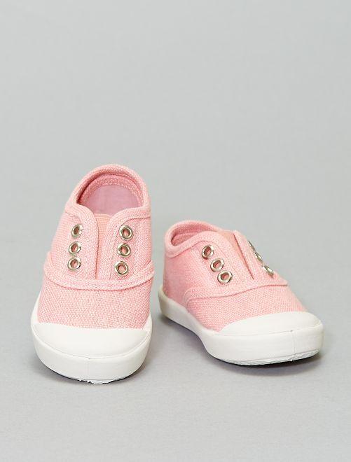 Sneaker effetto slavato                                         ROSA