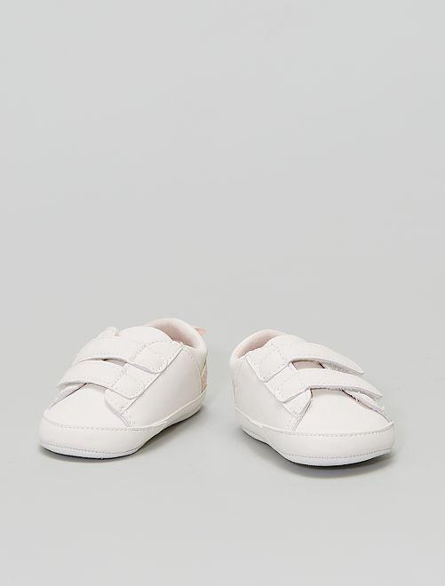 Sneakers a 'fiori' a strappo                                         BIANCO