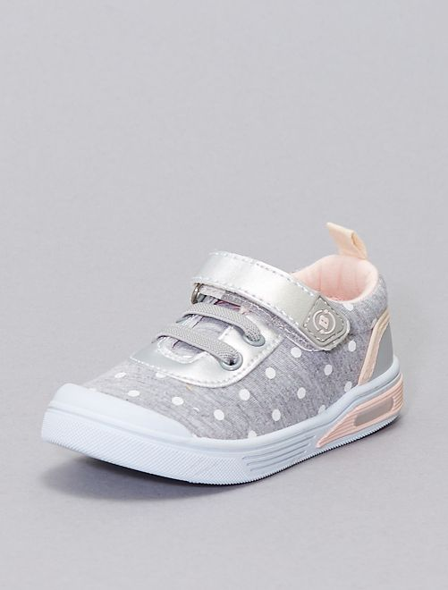 Sneakers a pois 'Beppi'                             BEIGE