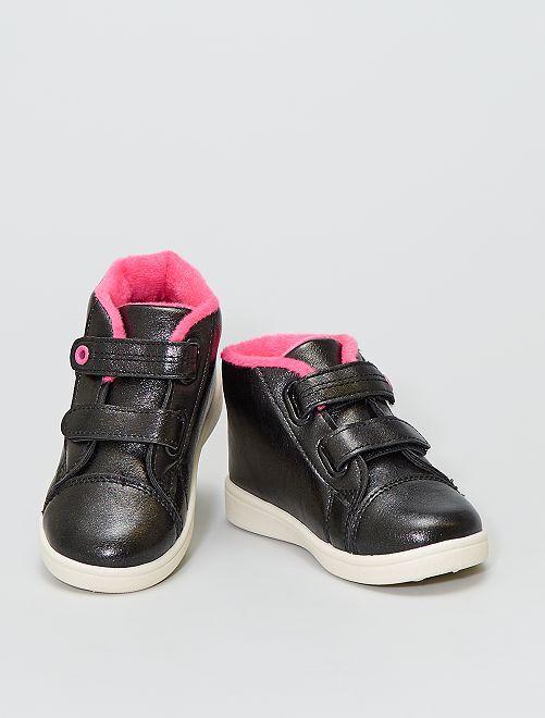Sneakers alte con fodera interna rosa                             nero