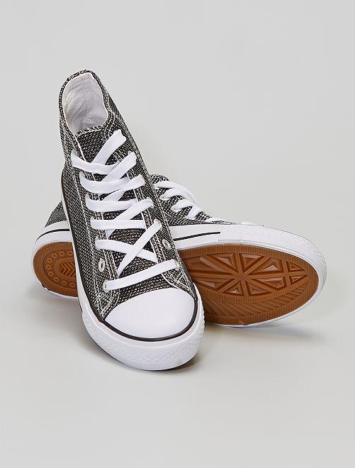 Sneakers alte con strass                                         nero