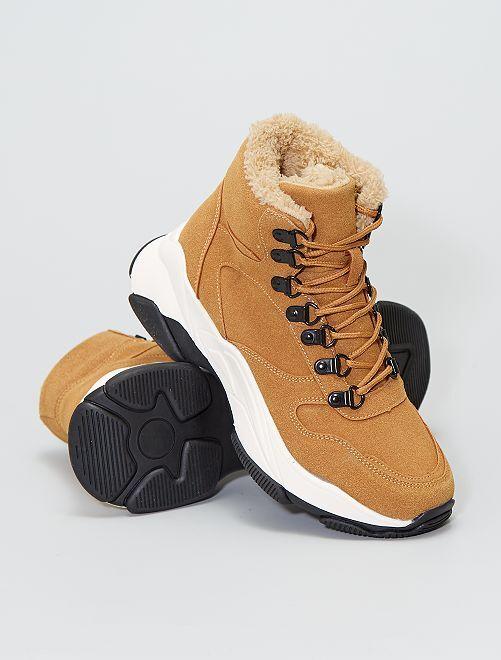 Sneakers alte imbottite                             cammello