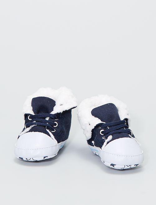 Sneakers alte imbottite in tela                                                     BLU
