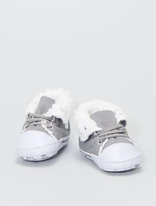 Sneakers alte imbottite in tela                                                     grigio