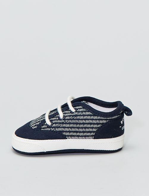 Sneakers alte in tela                             BLU