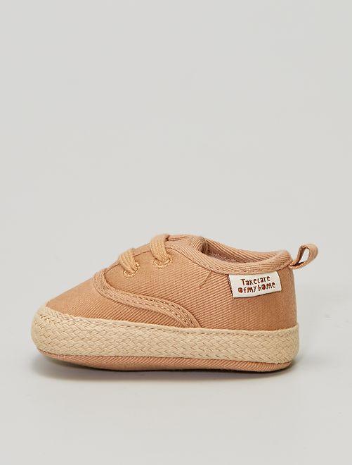 Sneakers alte in tela                             MARRONE