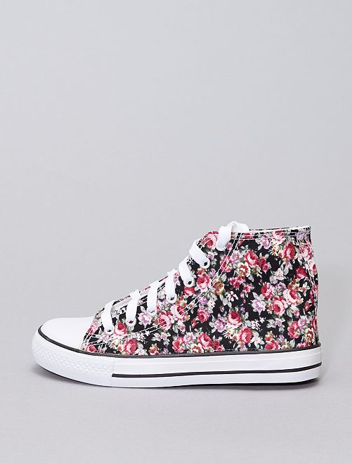 Sneakers alte in tela                             rosa