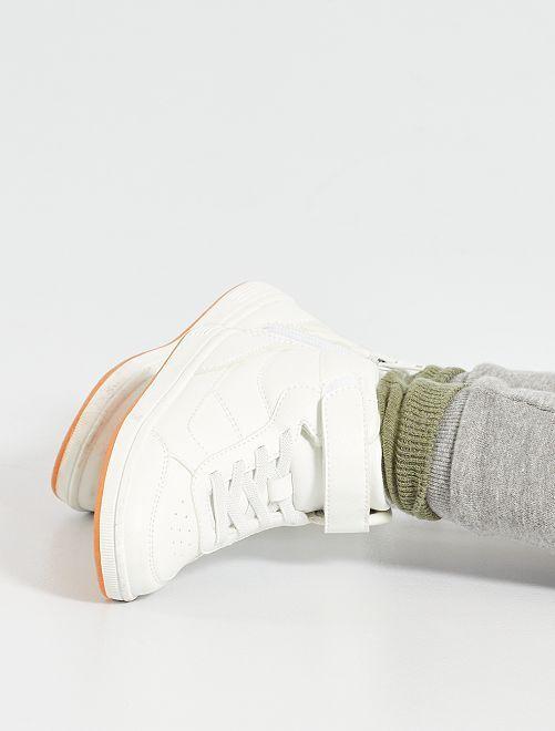 Sneakers alte lacci elastici                             bianco