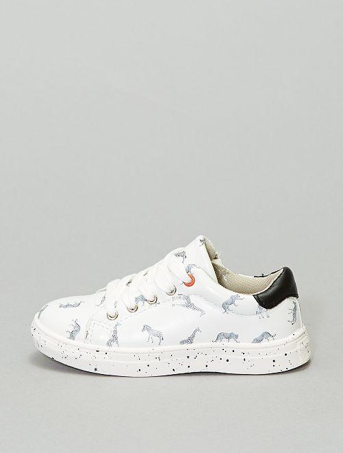 Sneakers basse 'animali'                             bianco