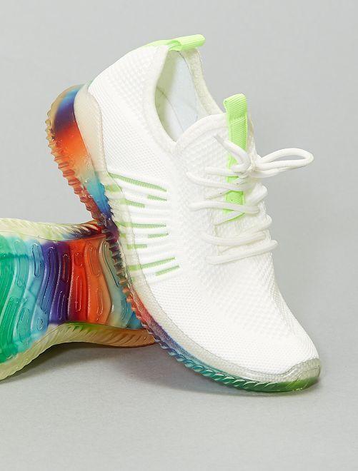 Sneakers basse arcobaleno                             BIANCO