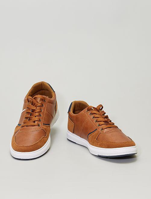 Sneakers basse da passeggio                             cammello