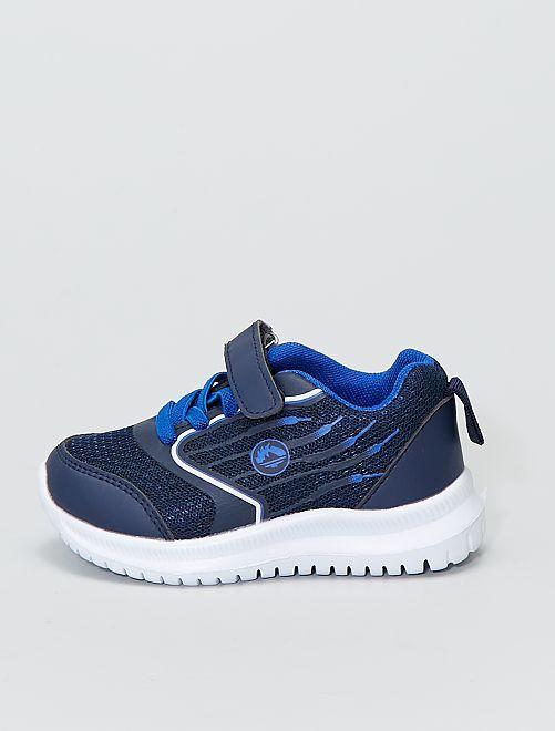 Sneakers basse in mesh                             blu navy