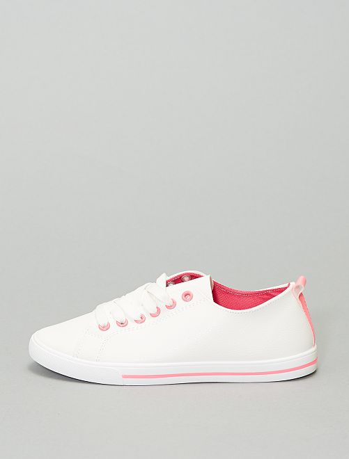 Sneakers basse in similpelle                     ROSA