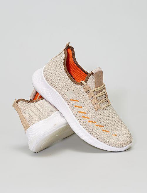Sneakers basse in tessuto                             BEIGE