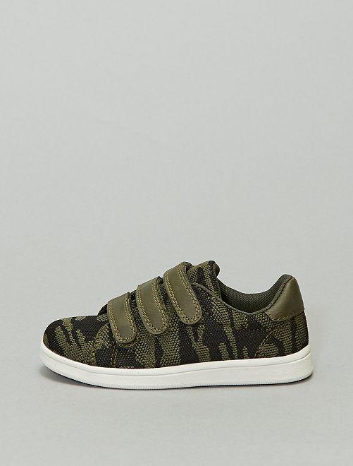 Sneakers basse in tessuto 'camouflage'                             kaki