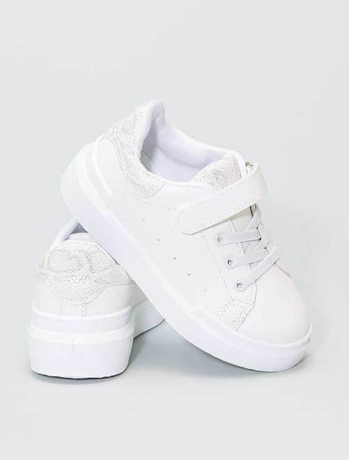 Sneakers basse 'serpente'                             bianco