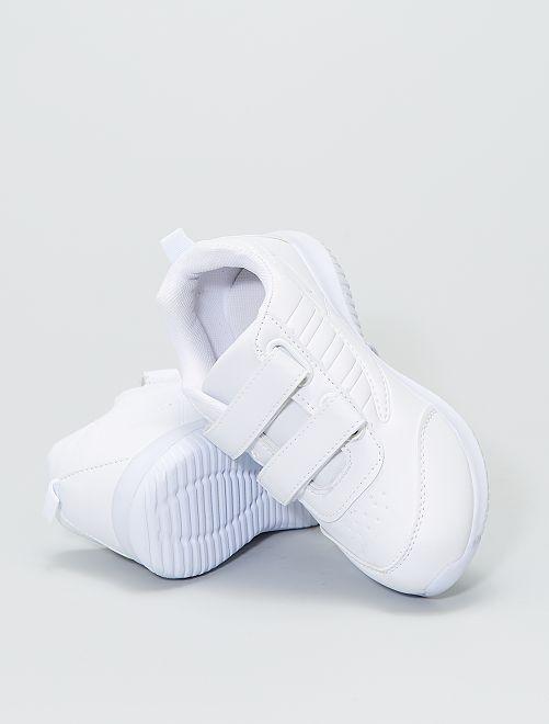 Sneakers basse tinta unita                             bianco