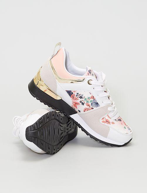 Sneakers basse tipo sportivo                                         fiori