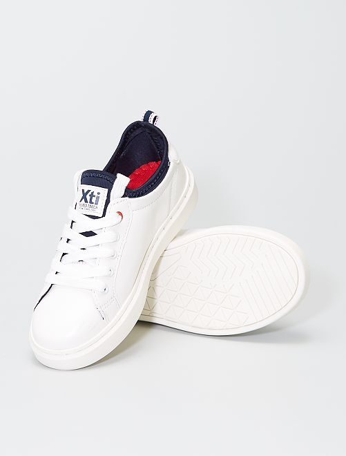 Sneakers bianche traforate                             bianco