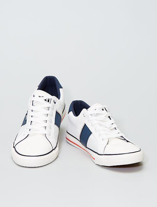 Sneakers bimateriale                             bianco