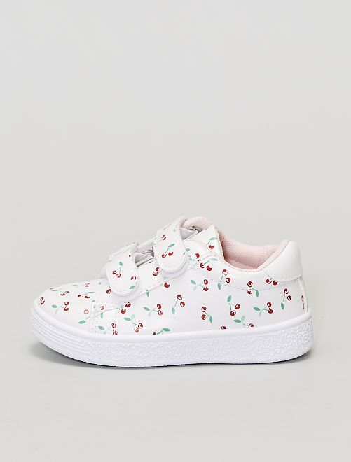 Sneakers 'ciliegia' in similpelle                             bianco