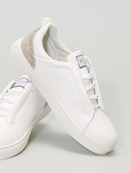 Sneakers con allacciatura nascosta                             BIANCO