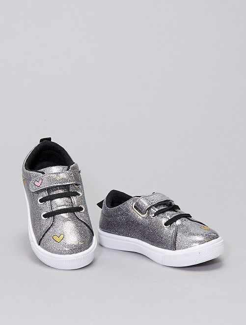Sneakers con paillettes 'Minnie'                             BEIGE