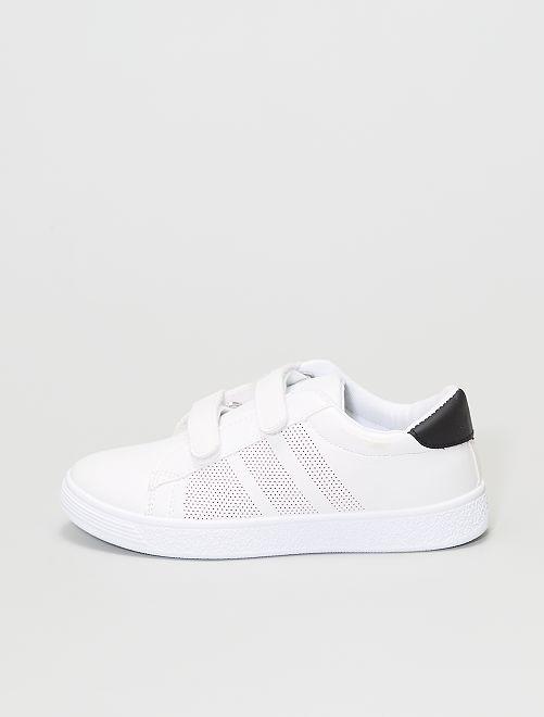 Sneakers con strappi                             bianco
