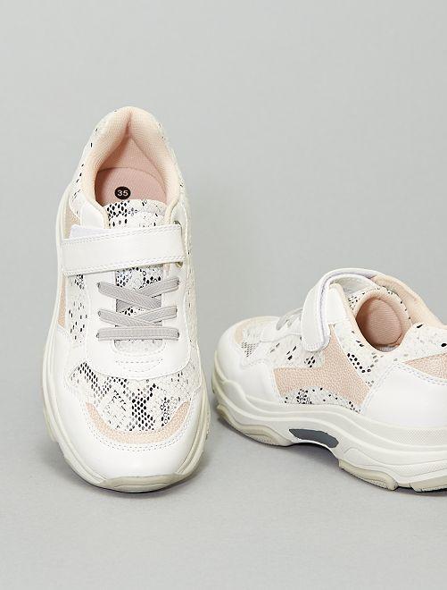 Sneakers con suola alta                             BIANCO