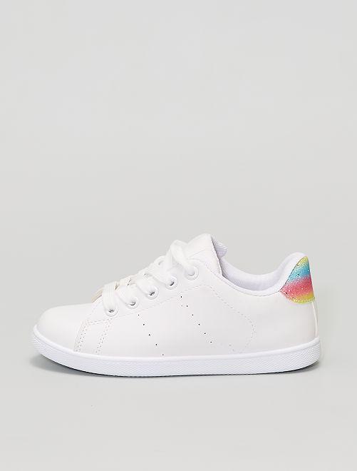 Sneakers in similpelle                                         BEIGE