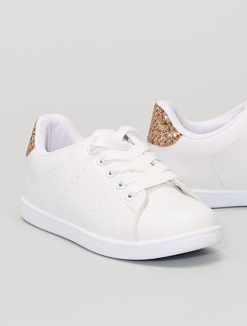 Sneakers in similpelle                                         beige scuro