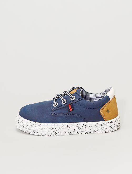 Sneakers in similpelle                             blu navy