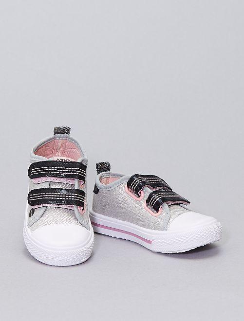 Sneakers in tela con paillettes 'Minnie' di 'Disney'                             grigio