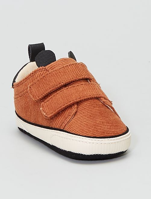 Sneakers in velluto                             MARRONE