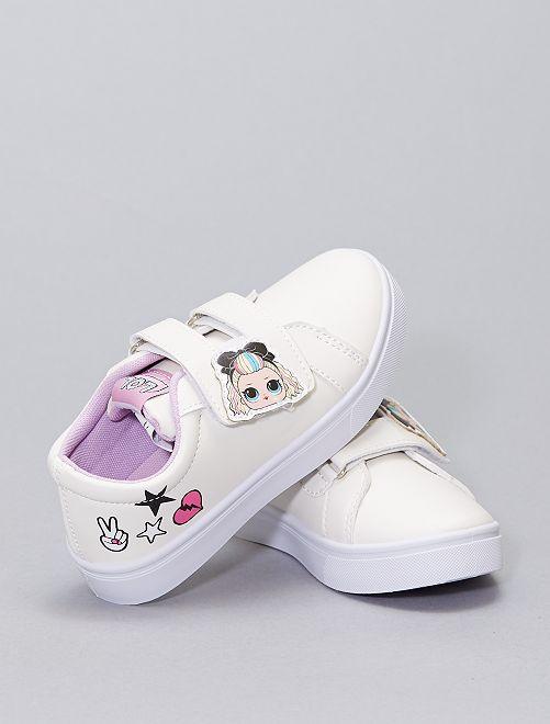 Sneakers 'LOL Surprise' con strappi                             bianco