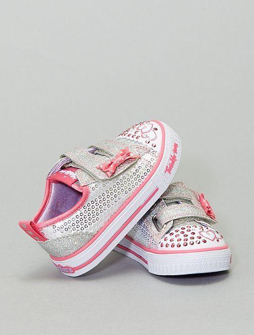 Sneakers luminose 'Skechers'                             argento