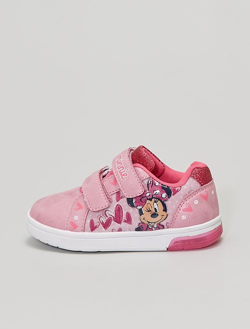 Sneakers 'Minnie' con suola luminosa                             ROSA