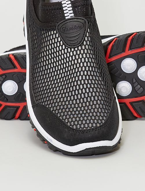 Sneakers pantofole in mesh                             nero